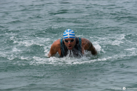 Spyros Rois: The long distance swimmer who will attempt to swim from Pireaus to Poros